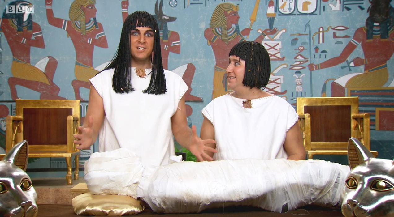 Channel 5 Caveman Show : Art show horrible histories tv